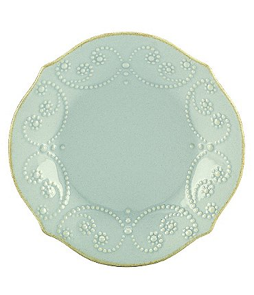 Image of Lenox French Perle Scalloped Stoneware Tidbit Plate