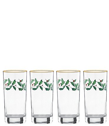 Image of Lenox Holiday 4-Piece Highball Glass Set