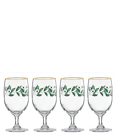 Image of Lenox Holiday 4-Piece Iced Beverage Glass Set