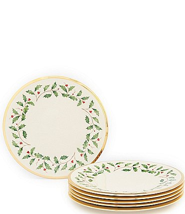 Image of Lenox Holiday Dinner Plates, Set of 6