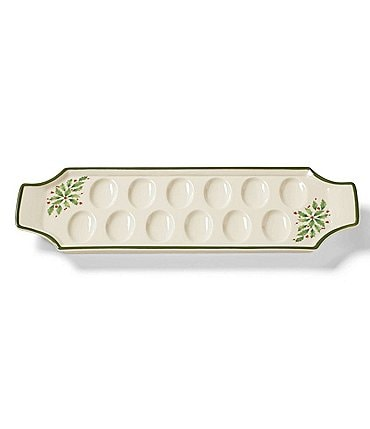 Image of Lenox Holiday Holly Deviled Egg Tray