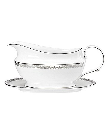 Image of Lenox Lace Couture Sauce Boat & Stand