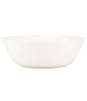 "Image of Lenox Opal Innocence Carved Scroll Porcelain 6.5"" All-Purpose Bowl"