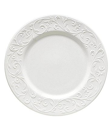 Image of Lenox Opal Innocence Carved Vine Porcelain Dinner Plate