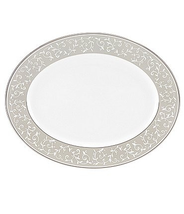 "Image of Lenox Opal Innocence Dune China 13"" Oval Platter"