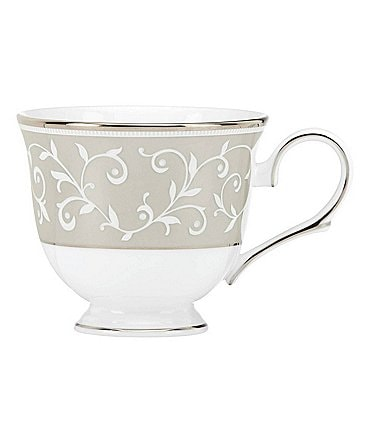 Image of Lenox Opal Innocence Dune Vine Platinum Bone China Cup