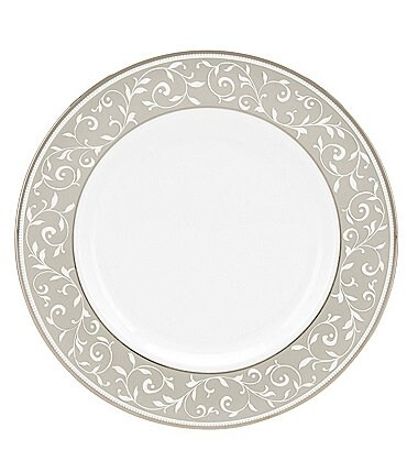 Image of Lenox Opal Innocence Dune Vine Platinum Bone China Salad Plate