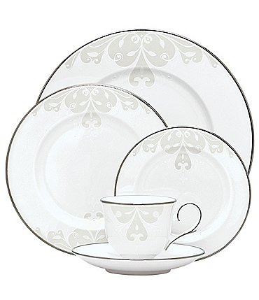 Image of Lenox Opal Innocence Scroll 5-Piece Place Setting