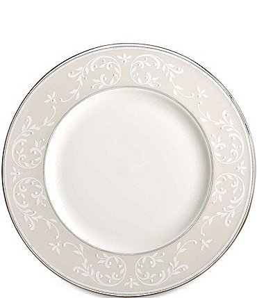 Image of Lenox Opal Innocence Vine & Pearl Platinum Opalescent Bone China Accent Salad Plate