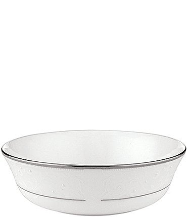 Image of Lenox Opal Innocence Vine & Pearl Platinum Opalescent Bone China All-Purpose Bowl