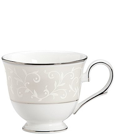 Image of Lenox Opal Innocence Vine & Pearl Platinum Opalescent Bone China Cup