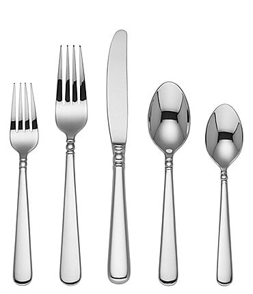 Image of Lenox Pearl Platinum 20-Piece Stainless Steel Flatware Set