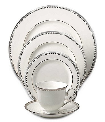 Image of Lenox Pearl Platinum Bone China 5-Piece Place Setting