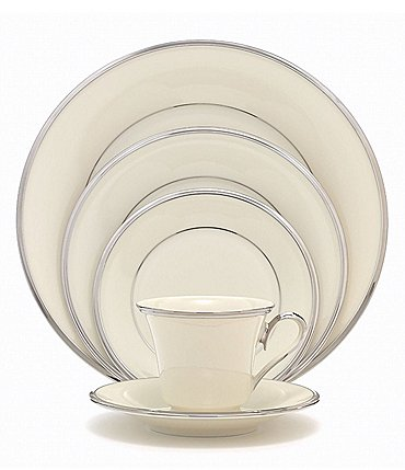Image of Lenox Solitaire Platinum China 5-Piece Place Setting