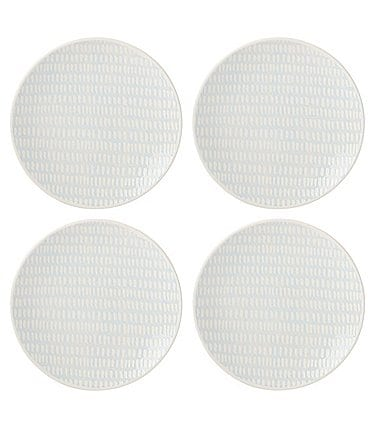 Image of Lenox Textured Neutrals Collection Chambray 4-Piece Accent Plates