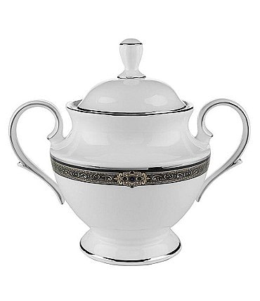 Image of Lenox Vintage Jewel Bone China Sugar Bowl with Lid