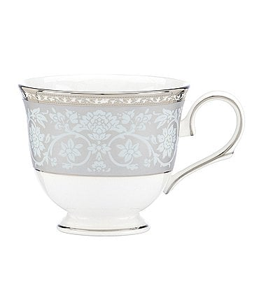 Image of Lenox Westmore Floral Platinum Bone China Cup