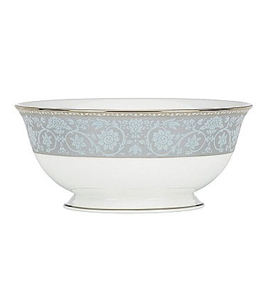 Image of Lenox Westmore Floral Platinum Bone China Serving Bowl
