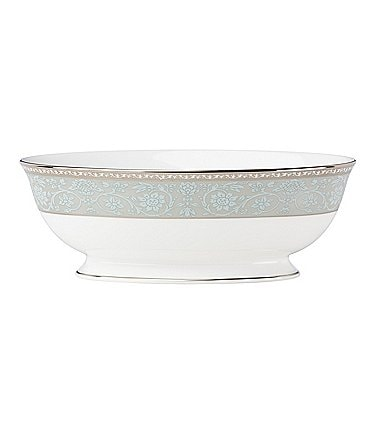 Image of Lenox Westmore Floral Platinum Bone China Vegetable Bowl