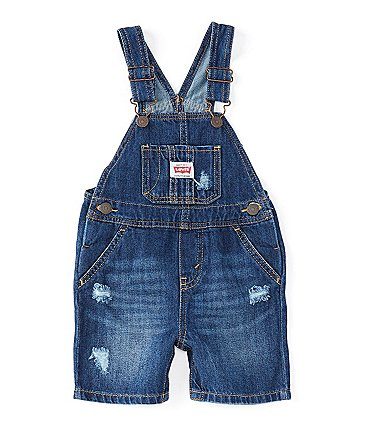 Image of Levi's® Baby Boys 12-24 Months Denim Shortalls