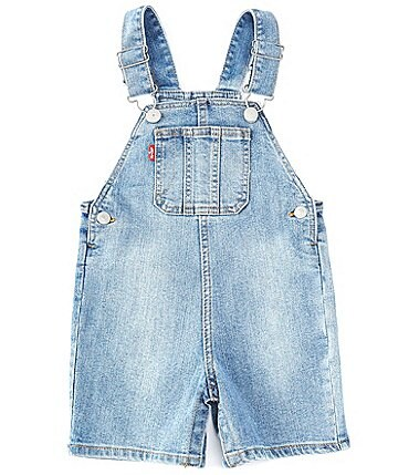 Image of Levi's® Baby Boys 3-24 Months Straight-Fit Denim Shortall