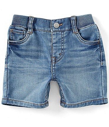 Image of Levi's® Baby Boys 3-24 Months Denim-Look Knit Shorts