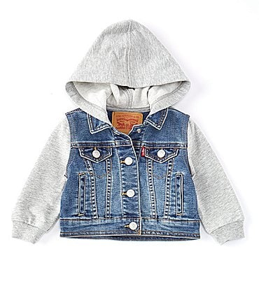 Image of Levi's® Baby Boys 3-24 Months Hooded Trucker Jacket