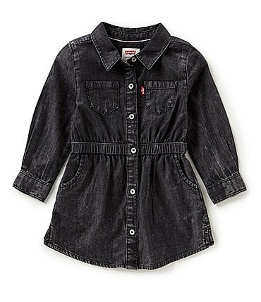 Image of Levi's® Baby Girls 12-24 Months Denim Fit-and-Flare Dress