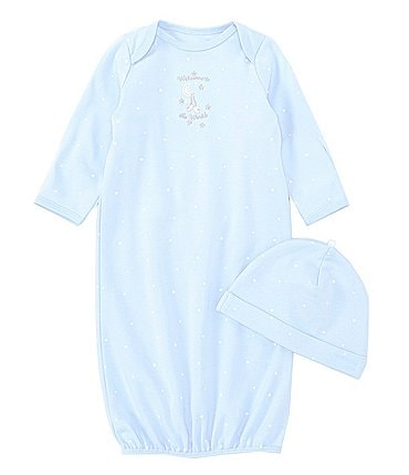 Image of Little Me Baby Boys Newborn-3 Months Blue Welcome To The World Gown