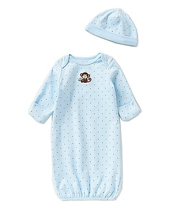Image of Little Me Baby Boys Newborn-3 Months Monkey Star Gown