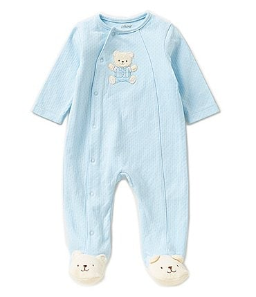 Image of Little Me Baby Boys Preemie-12 Months Cute Bear Footed Coverall