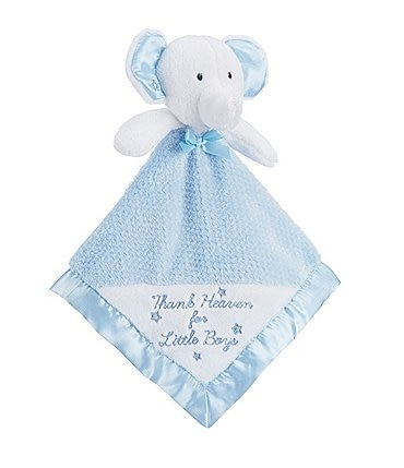 Image of Little Me Baby Boys Thank Heaven For Little Boys Elephant Snuggle Buddy