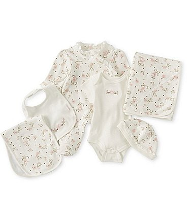 Image of Little Me Baby Girls Newborn-6 Months Vintage Rose Gift Box Layette Set