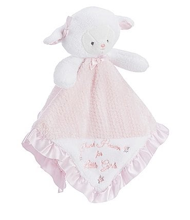 Image of Little Me Baby Girls Thank Heaven For Little Girls Lamb Snuggle Buddy