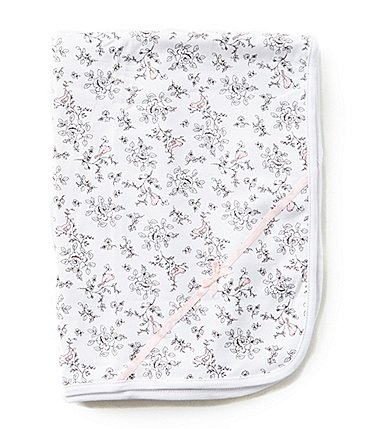 Image of Little Me Bird Toile Reversible Printed Receiving Blanket