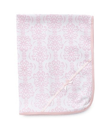 Image of Little Me Damask Scroll Blanket