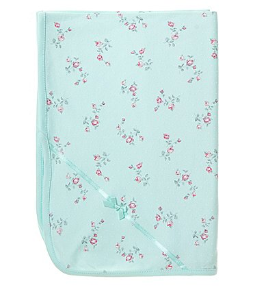 Image of Little Me Baby Girls Floral Spray Blanket
