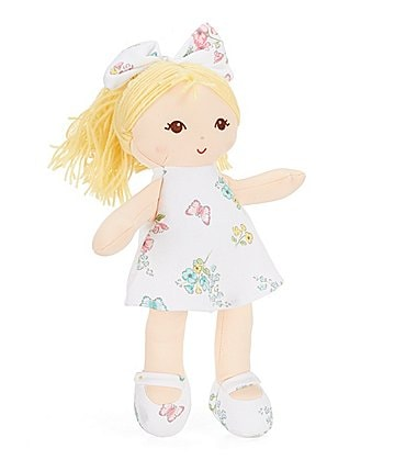 "Image of Little Me Meadow Floral 13"" Blonde Plush Doll"