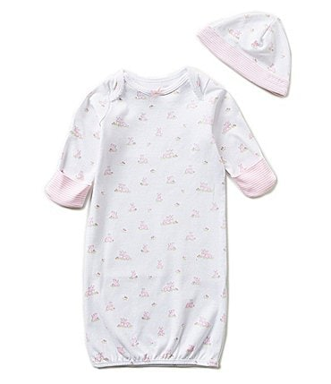 Image of Little Me Baby Girls Newborn Baby Bunnies Gown