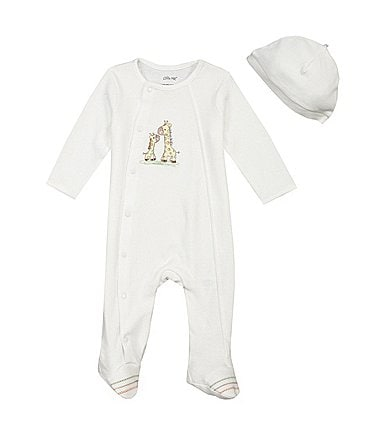Image of Little Me Baby Preemie-9 Months Giraffe Footie Set
