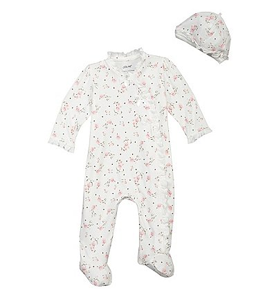 Image of Little Me Baby Girls Preemie-9 Months Vintage Rose Footie Set