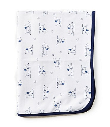 Image of Little Me Puppy Toile Printed Blanket