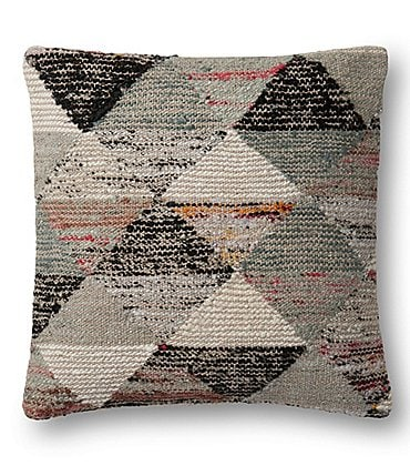 Image of Magnolia Home by Joanna Gaines Trinity Diamond-Patterned Square Feather Pillow