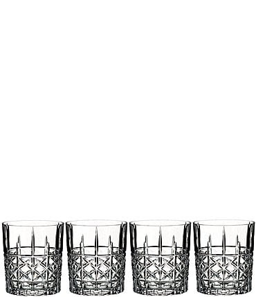 Image of Marquis by Waterford 4-Piece Brady Crystal Double Old Fashioned Glass Set