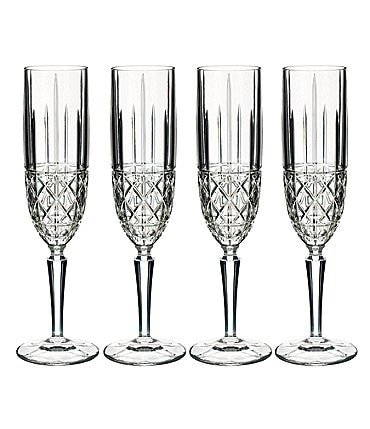 Image of Marquis by Waterford 4-Piece Brady Crystal Flute Set