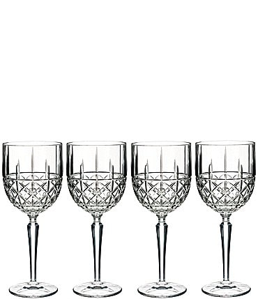 Image of Marquis by Waterford 4-Piece Brady Crystal Goblet Set