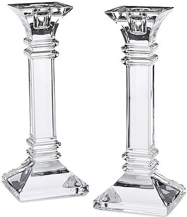 "Image of Marquis by Waterford Crystal ""Treviso"" Candlestick Pair"