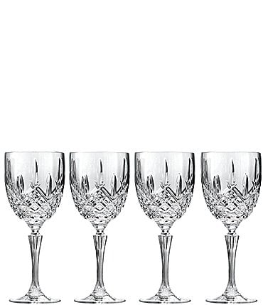 Image of Marquis by Waterford Markham 4-Piece Goblet Traditional Crystal Wine Glass Set