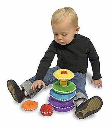 Image of Melissa & Doug Rainbow Stacker