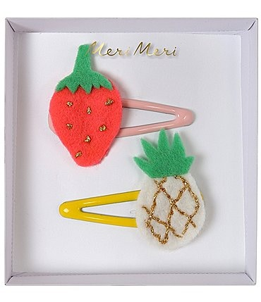 Image of Meri Meri Girls Pineapple Strawberry Hair Clips